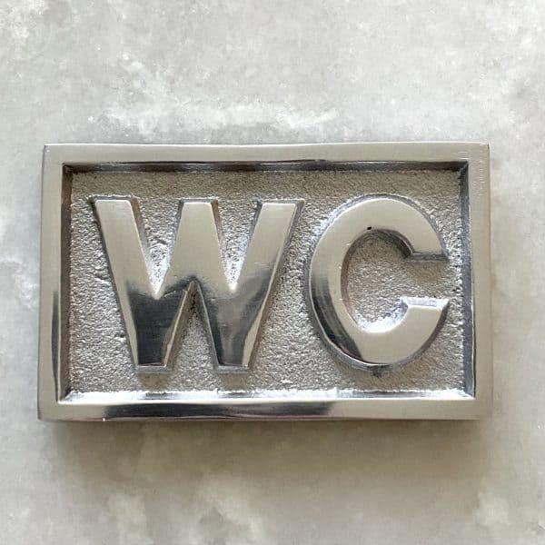 skylt WC aluminium Exmez