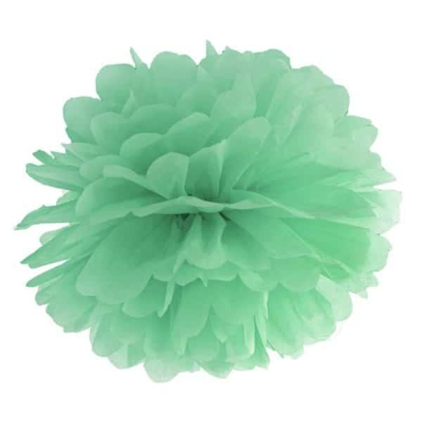 pom pom mintgrön