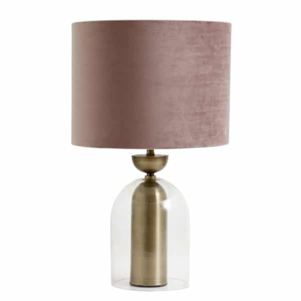 lampskärm rosa sammet
