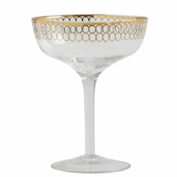 Cocktailglas i guld