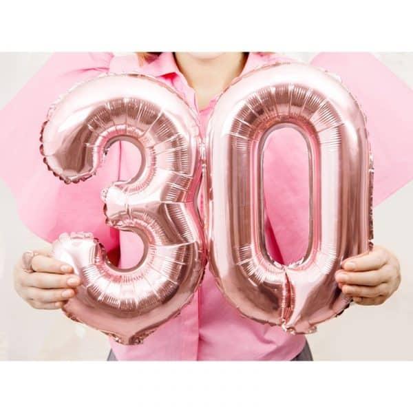 ballong siffror rosa Partydeco