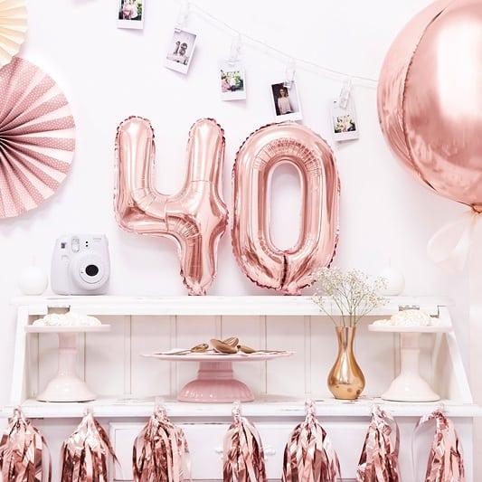 ballong siffror rosa