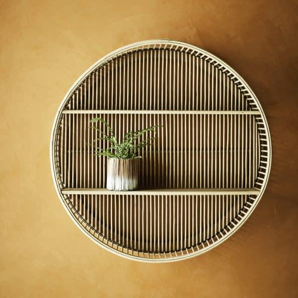 Rund hylla i bambu
