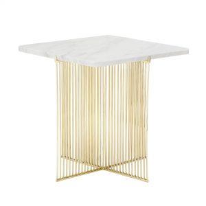 Avlastningsbord ELLIS, marmor/guld