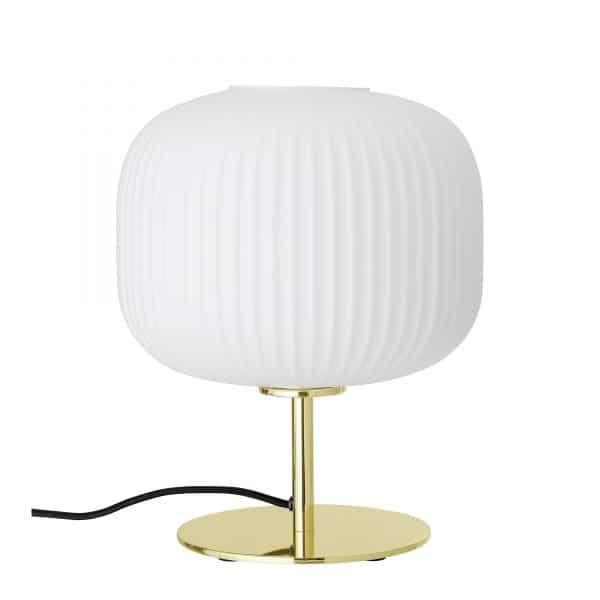 Bordslampa vit guld