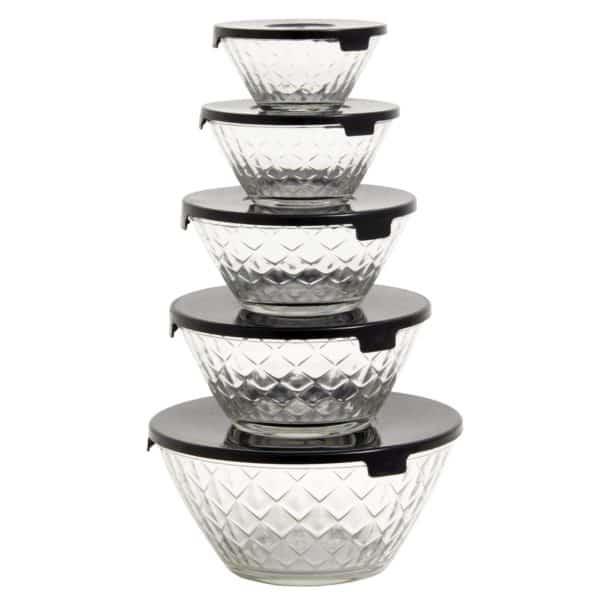 Glasskålar med lock