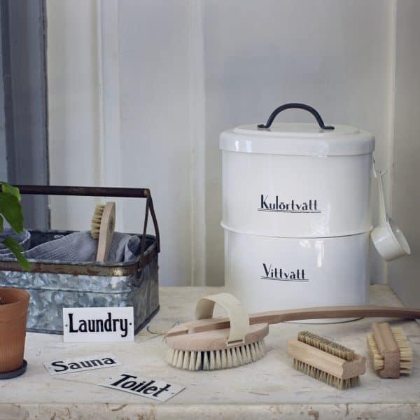 tvättmedelsburkar RALF vit Strömshaga