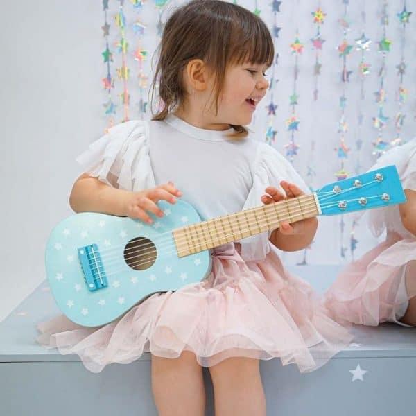 barngitarr blå Jabadabado