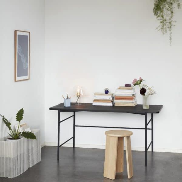 020909 svart skrivbord Hübsch