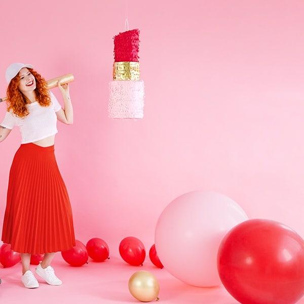 stor ballong rosa Partydeco