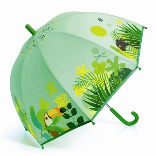 paraply för barn grön Djeco