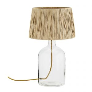 bordslampa glas bast Madam Stoltz