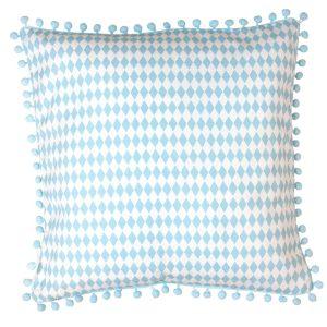 kuddfodral blå harlequin Jabadabado