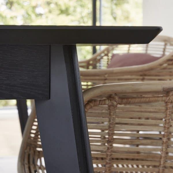 svart matbord ek Hubsch