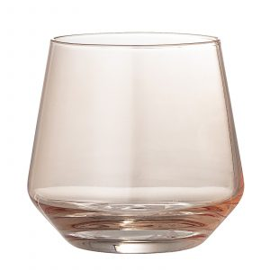 glas Rosy rosa Bloomingville