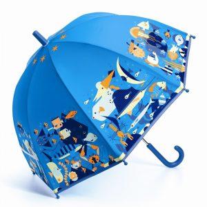 paraply för barn blå SEAWORLD Djeco