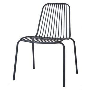 trädgårdsstol Florens svart Wikholm form