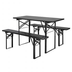 bord bänkar svart Nordal