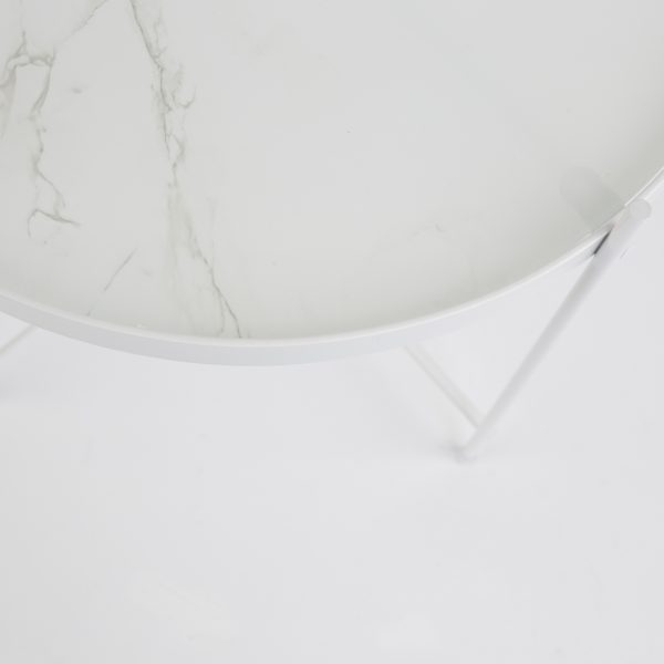 sidobord Cupid vit marmor Zuiver