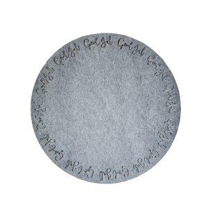 julgransmatta grå filt Storefactory