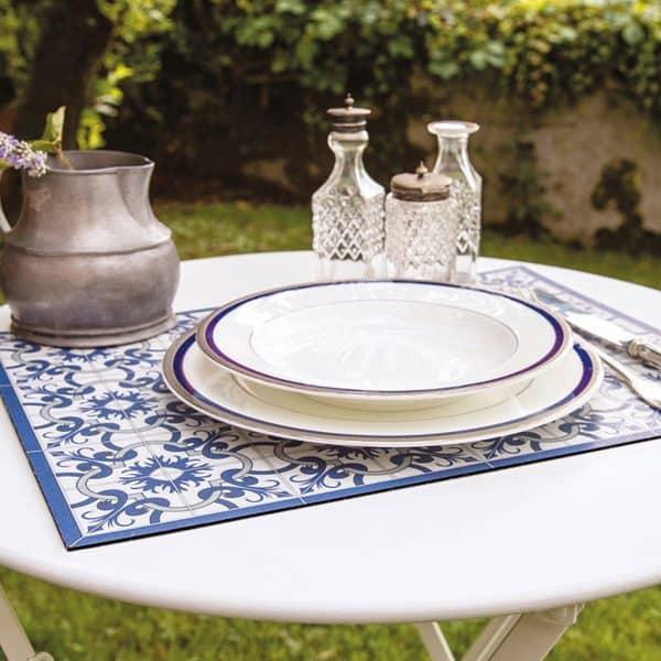 bordstablett Panarea blå grå Telki Milano